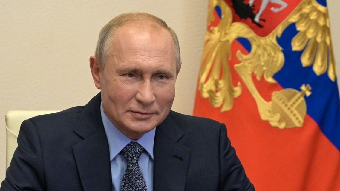 Russian President Vladimir Putin at the Novo-Ogaryovo state residence outside Moscow on July 17, 2020. (AFP)