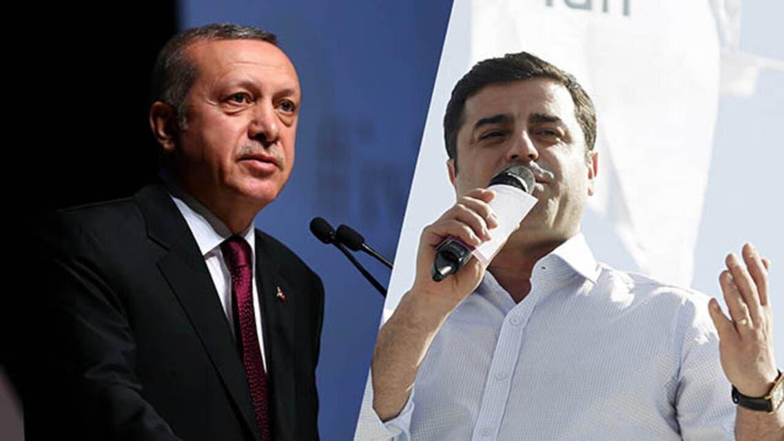 صلاح الدين ديمرتاش ورجب طيب أردوغان