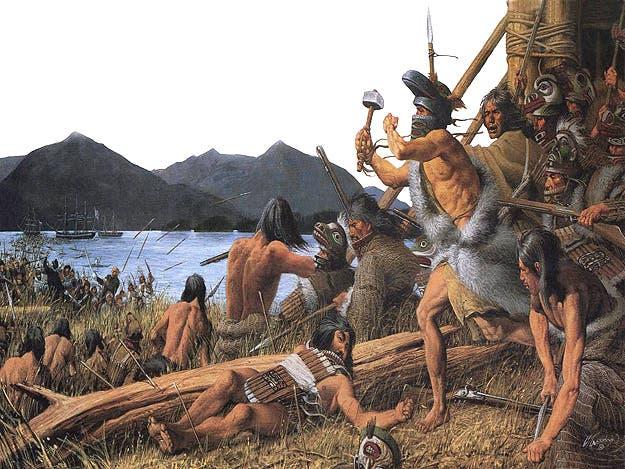 لوحة تجسد معركة ستيكا