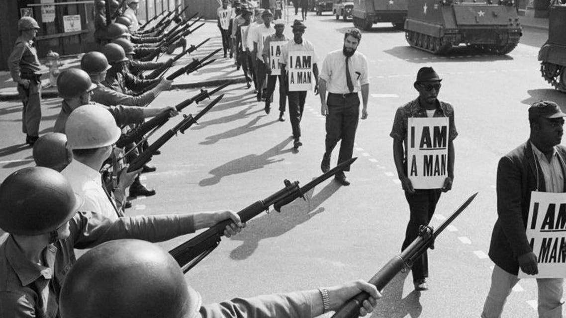 جانب من الاحتجاجات بممفيس عام 1968