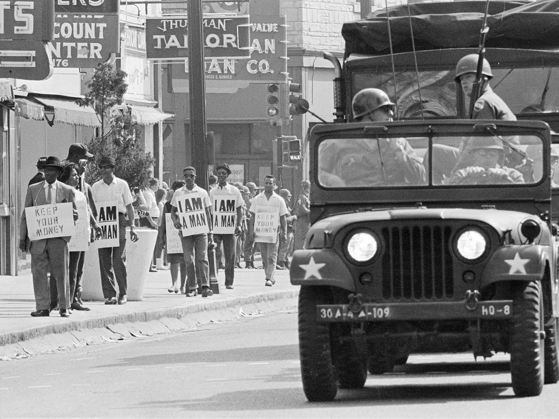 صورة لجانب من قوات الأمن أثناء احتجاجات ممفيس عام 1968