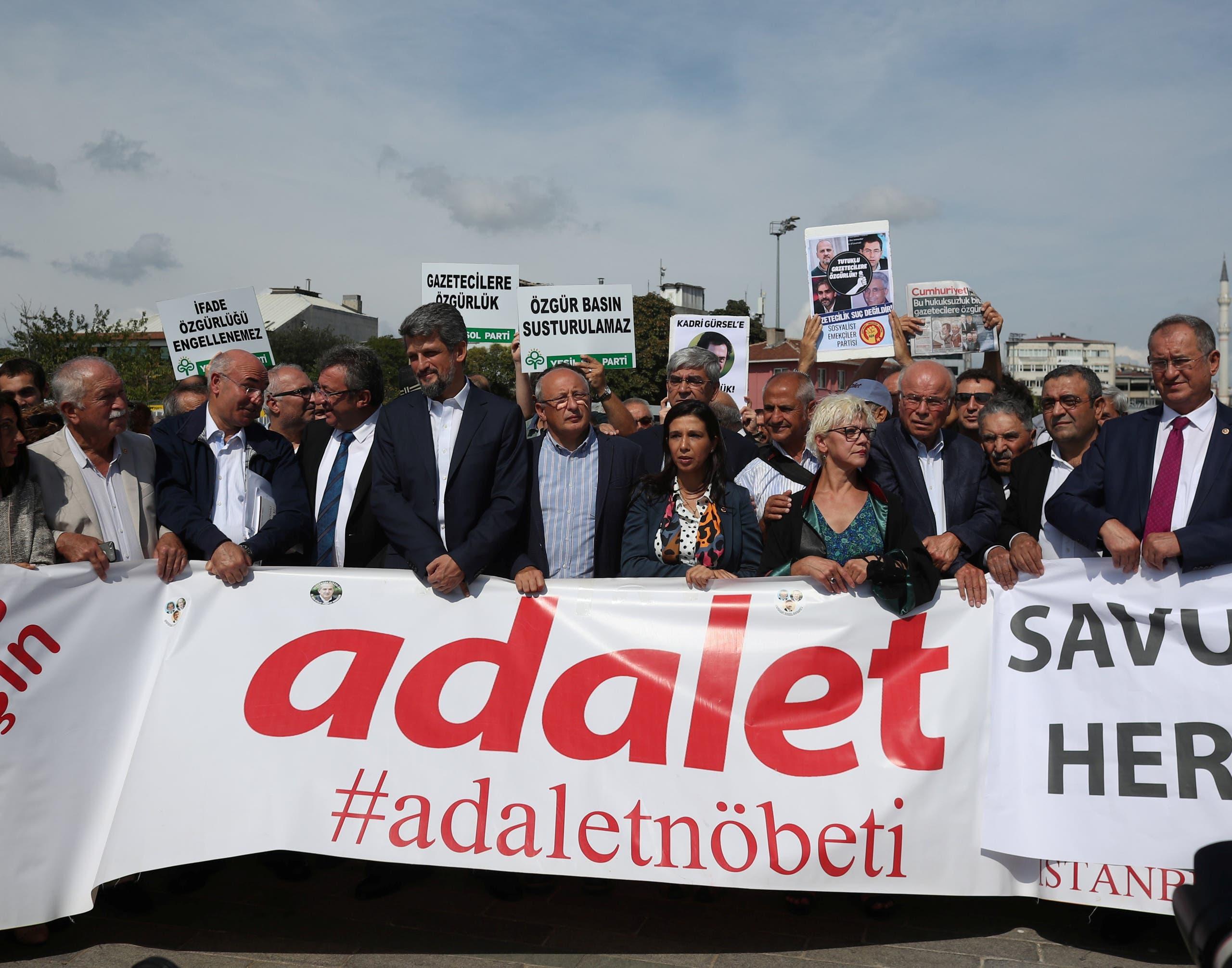 مظاهرة في اسطنبول للدفاع عن حرية الصحافة