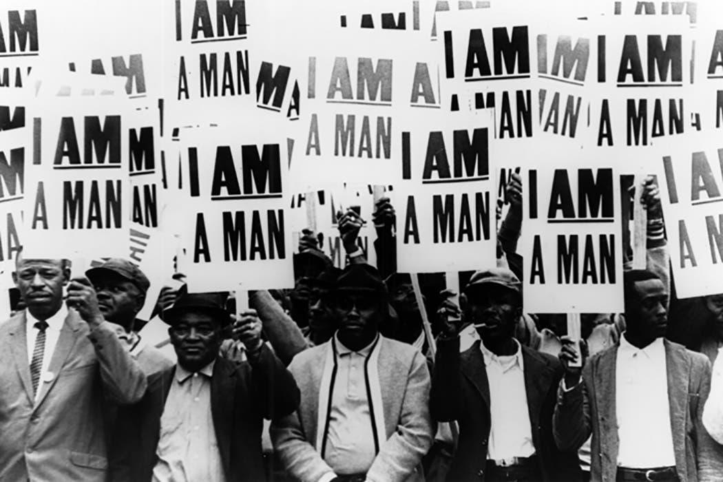صورة لمحتجين بممفيس سنة 1968