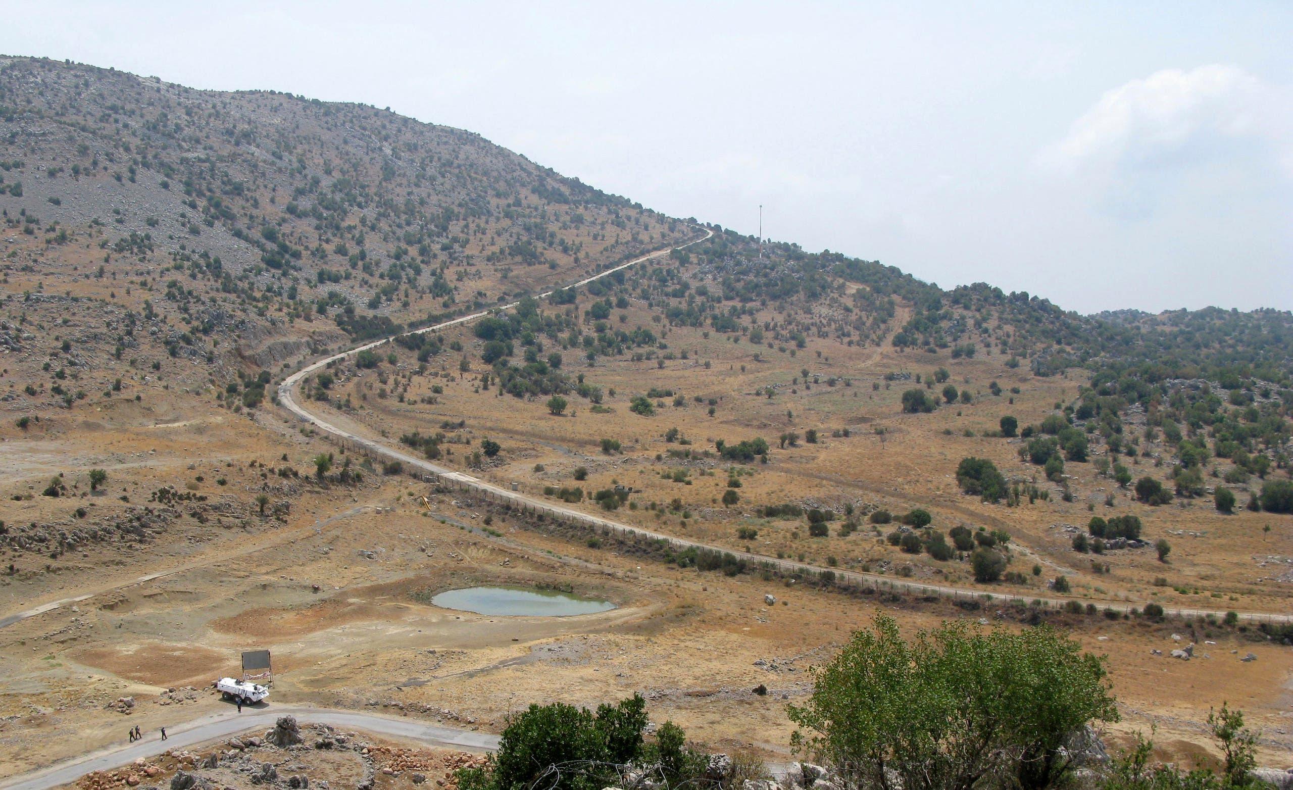 طريق مهجور في مزارع شبعا