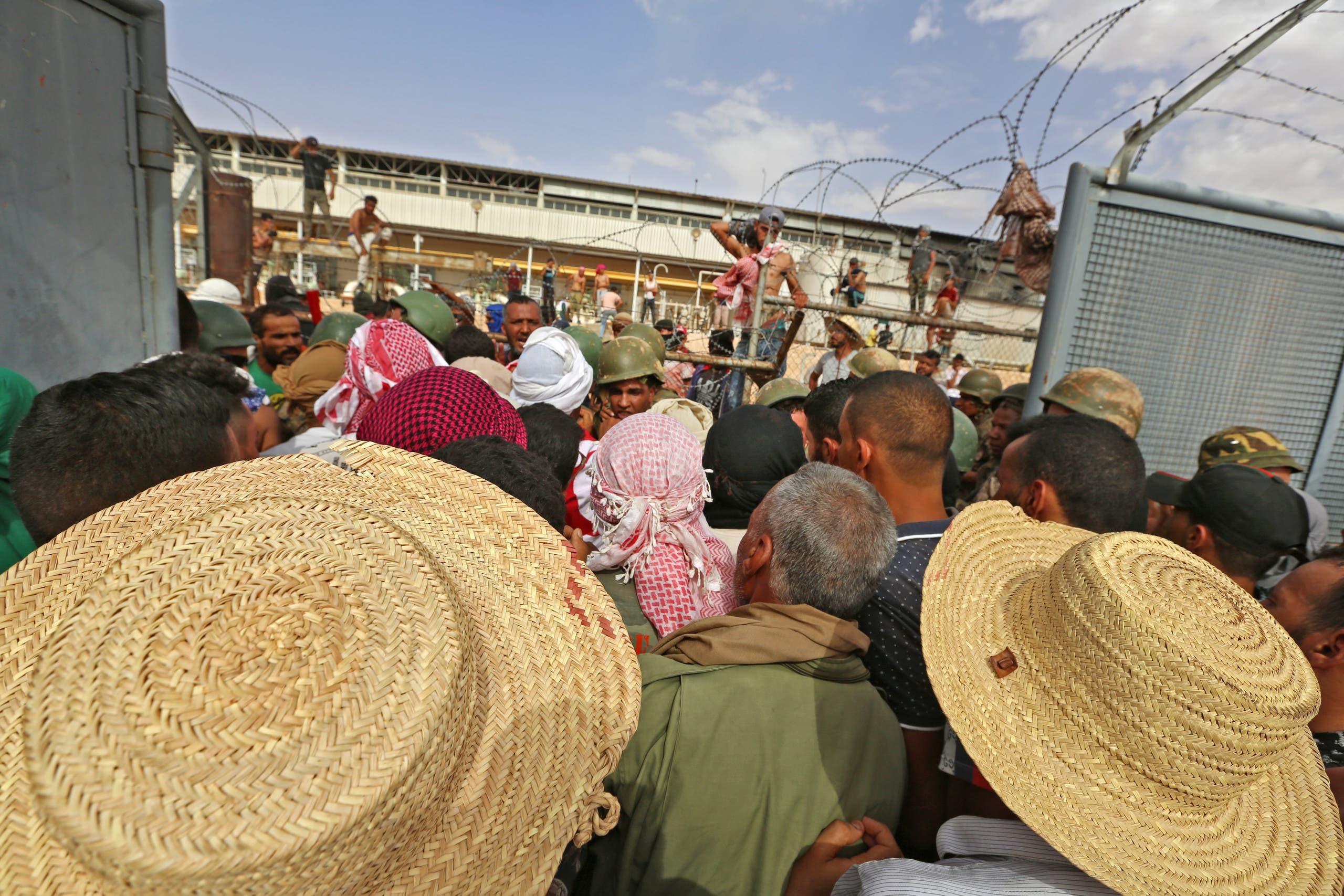 احتجاجات في تطاوين الأسبوع الماضي للمطالبة بوظائف