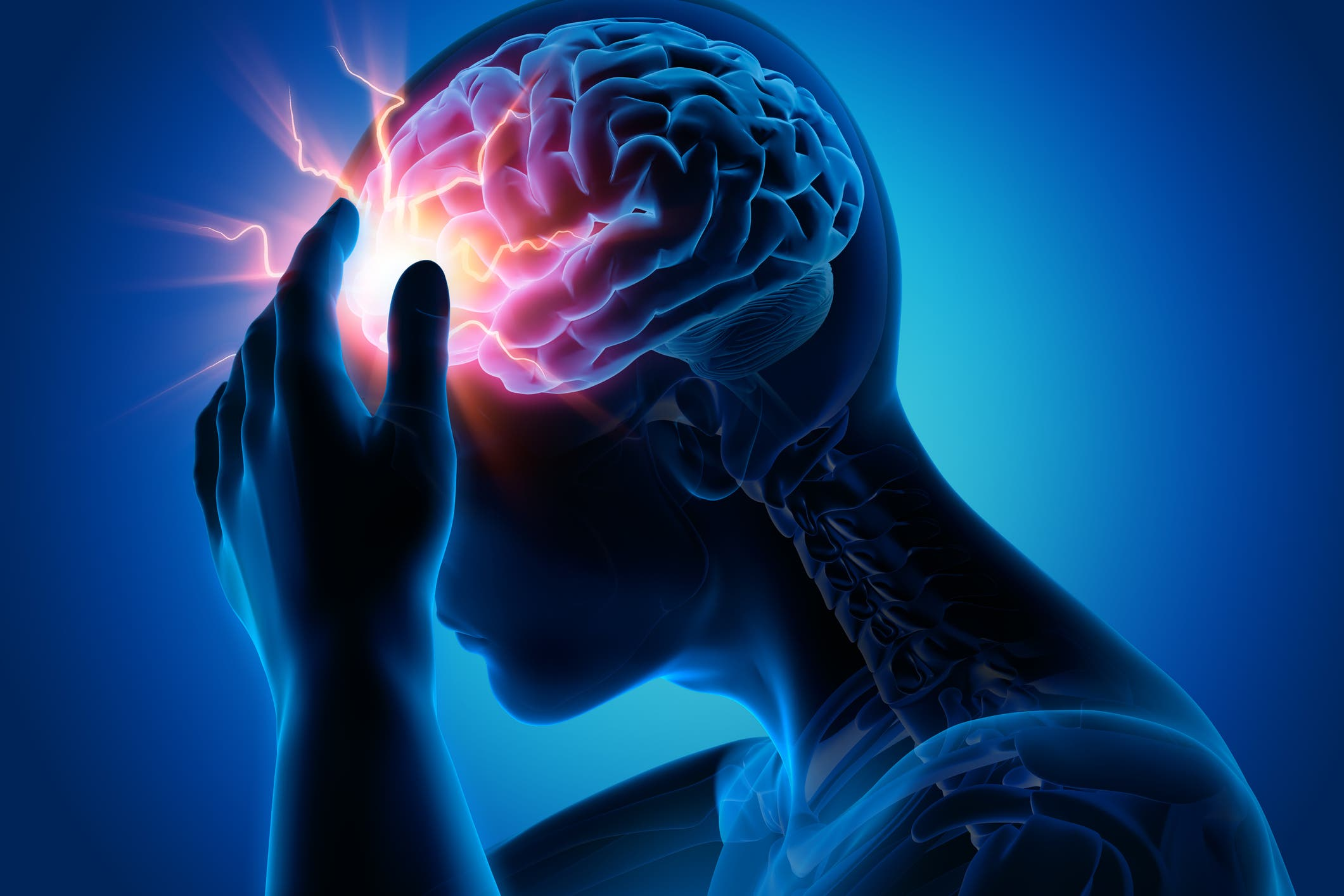 Headaches are common from the stresses placed on the body during the pandemic. (Stock image)