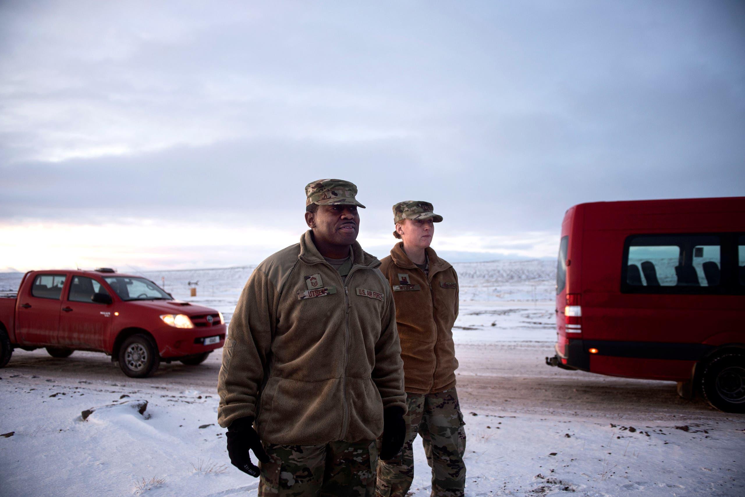 جنود أميركيون في قاعدة في غرينلاند