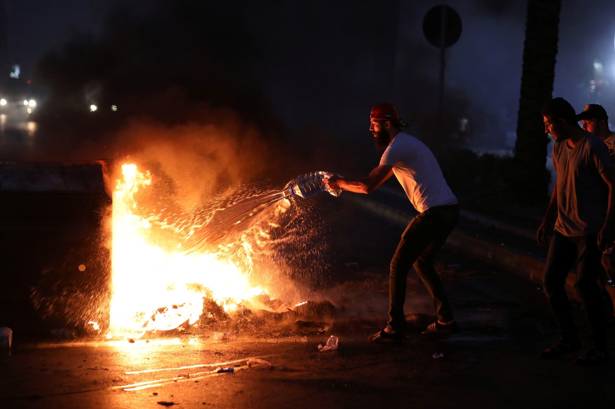 احتجاج في بيروت على غلاء الأسعار