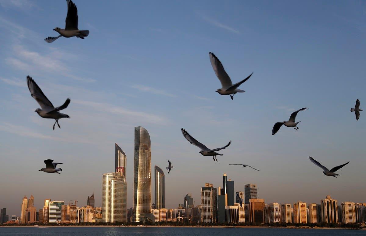 Seagulls fly over the city skyline in Abu Dhabi, United Arab Emirates. (File photo: AP)