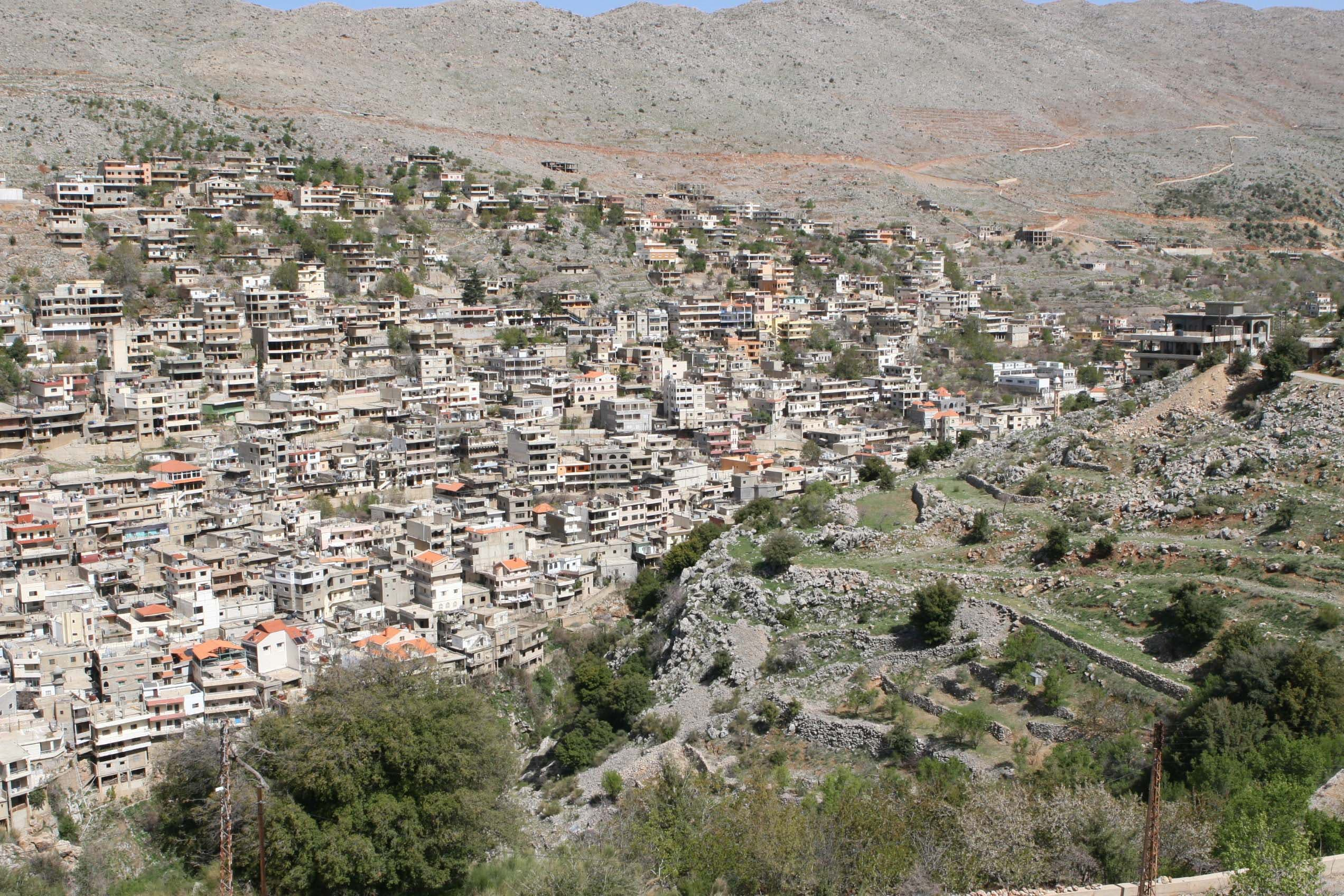The village of Shebaa clings to a mountainside in south Lebanon. (File photo: Reuters)