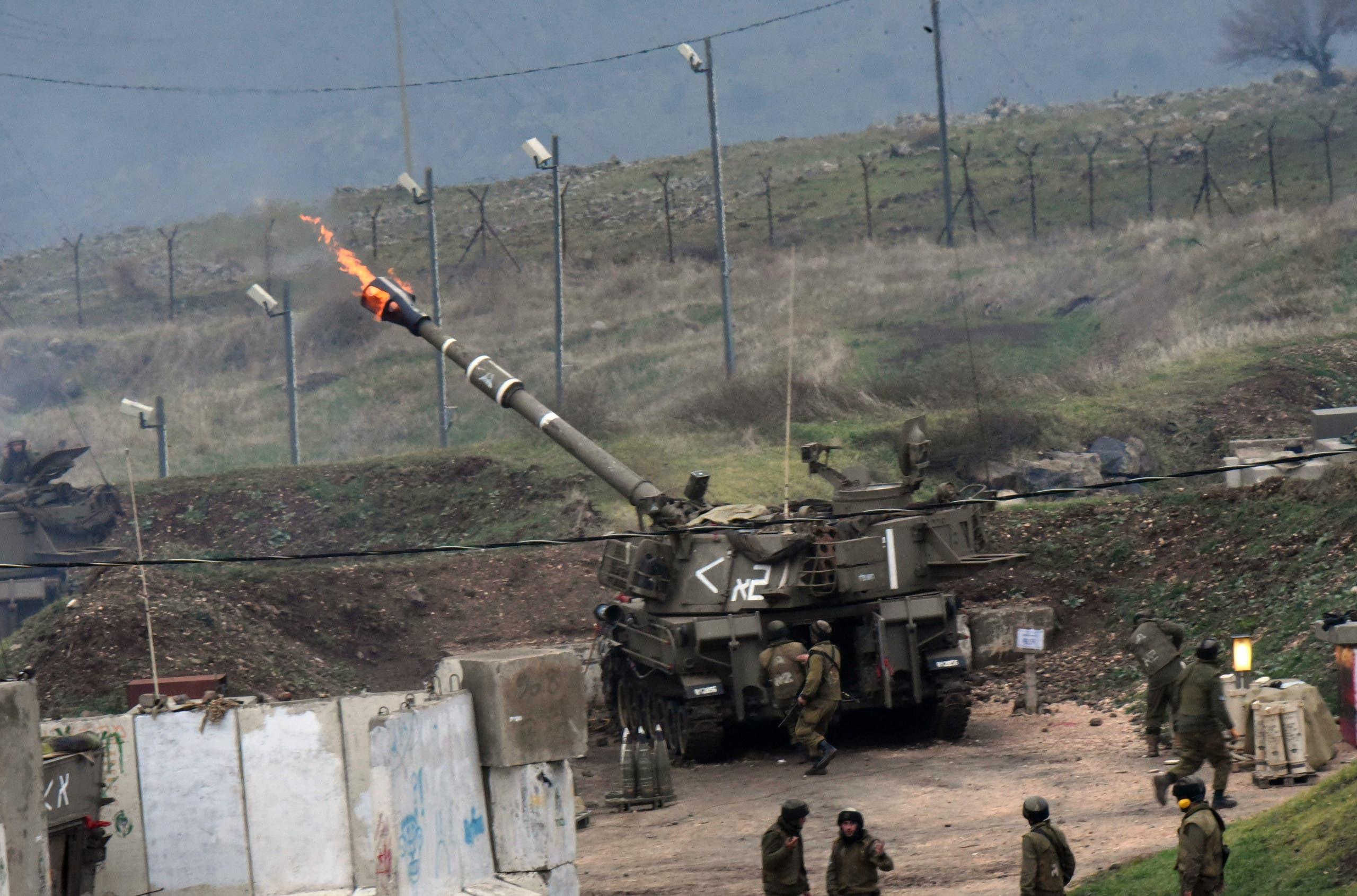المدفعية الإسرائيلية في مزارع شبعا تقصف الداخل اللبناني في يناير 2016