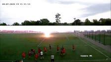 Watch: Lightning bolt strikes teen Russian footballer