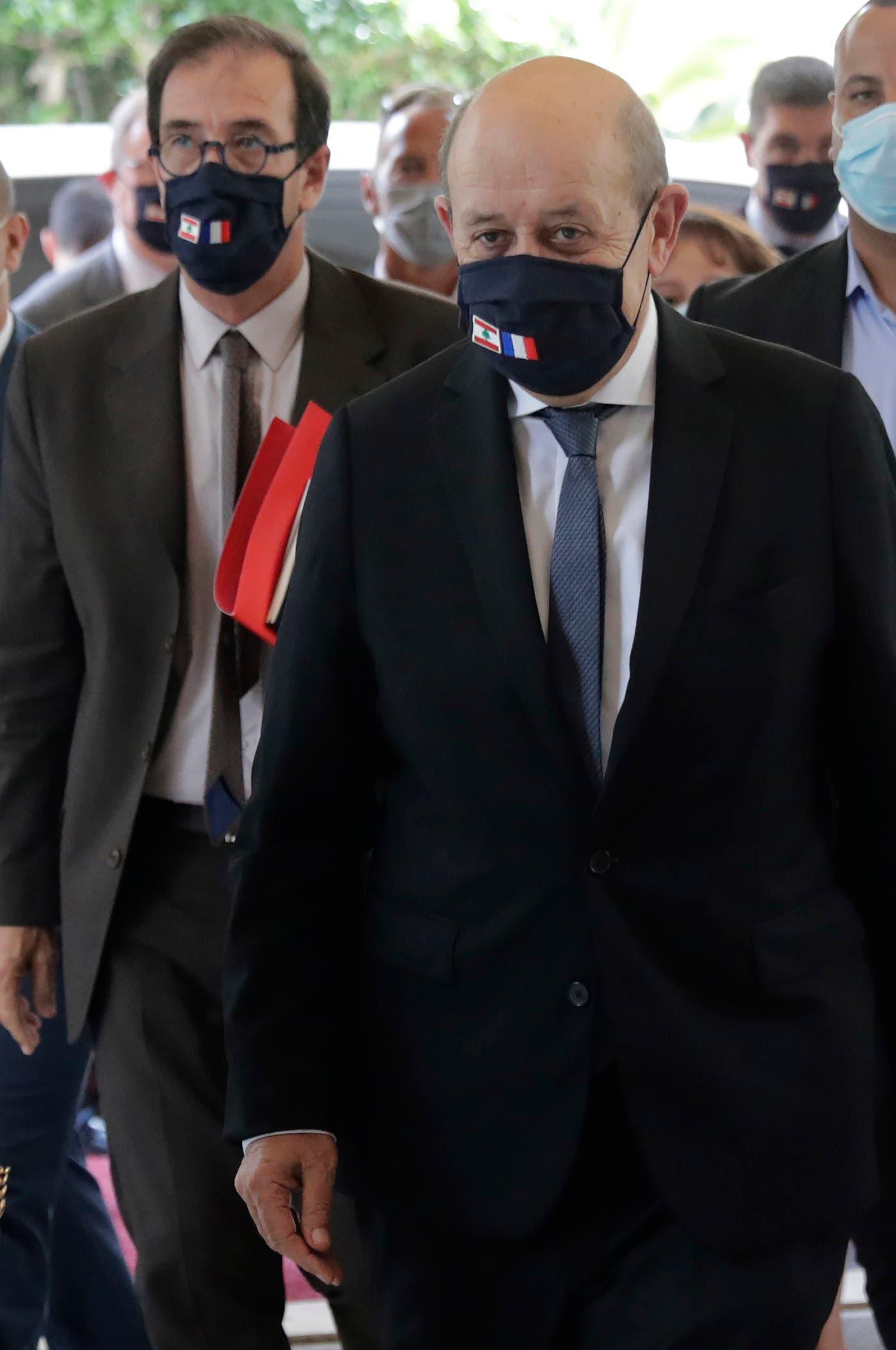 وزير الخارجية الفرنسي جان إيف لو دريان في بيروت (23 يوليو- فرانس بر)