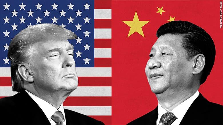 تعبيرية (ترمب والرئيس الصيني)