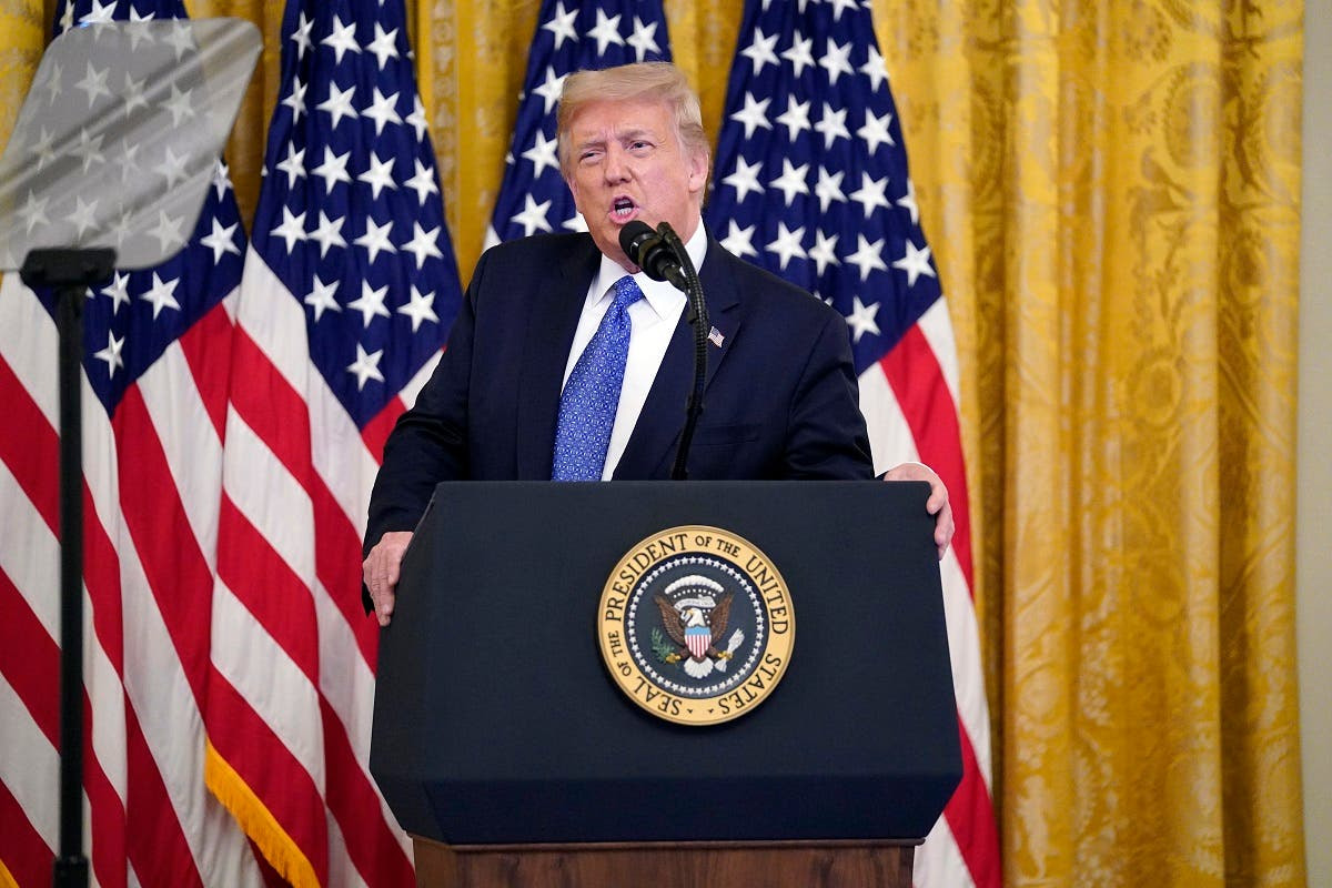 President Donald Trump speaks during an event on Operation Legend: Combatting Violent Crime in American Cities, at the White House, July 22, 2020, in Washington. (AP)