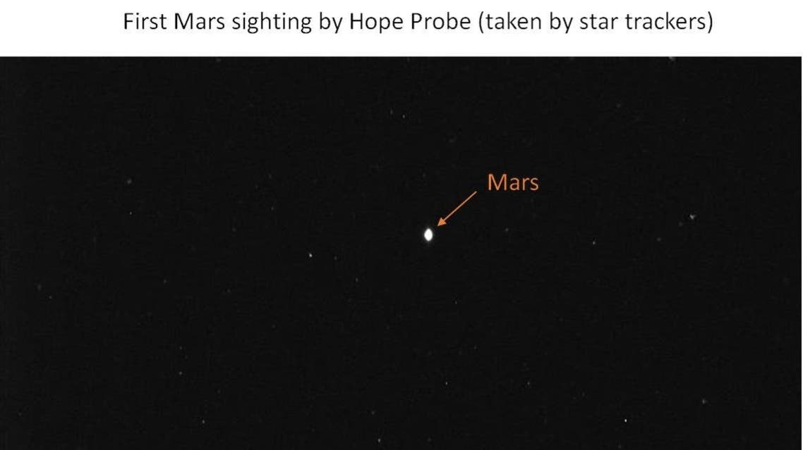 UAE's Hope Probe captures its first image of Mars 1 million km into space