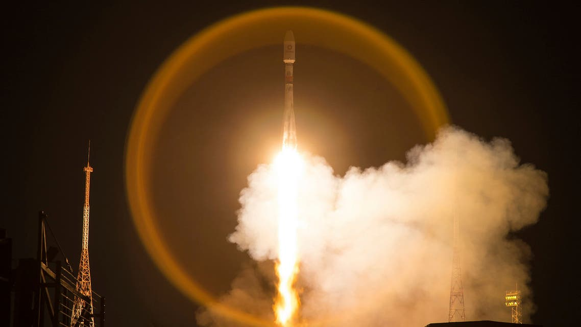 A Soyuz-2.1b launch vehicle takes-off with another 34 OneWeb satellites from the Baikonur Cosmodrome in Kazakhstan, Kazakhstan, Saturday, March 21, 2020. (File photo: AP)