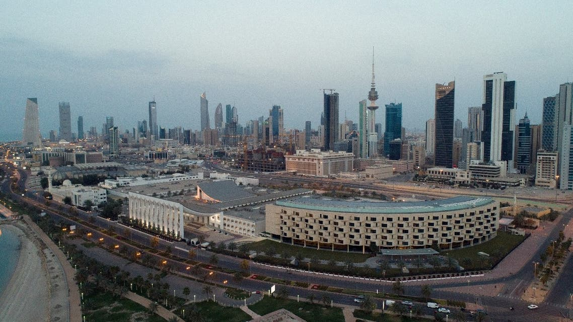 Aerial view of Kuwait City after the country entered lockdown due to the coronavirus pandemic, March 20, 2020. (Reuters)