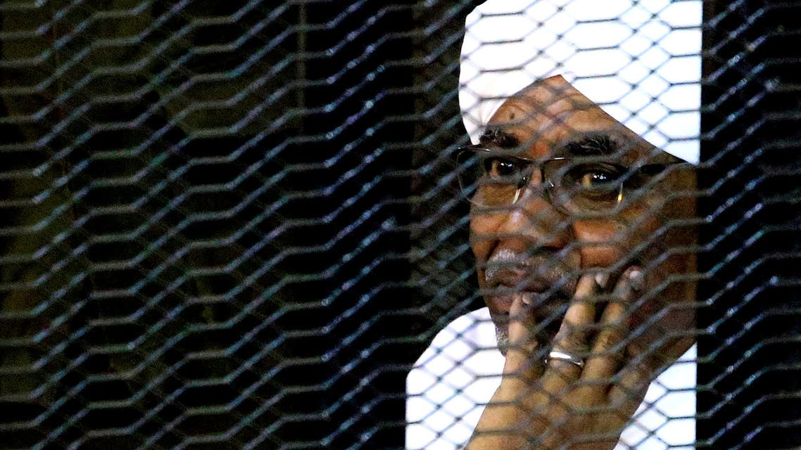Sudan's former President Omar Hassan al-Bashir sits inside a cage at the courthouse where he is facing corruption charges, in Khartoum, Sudan, September 28, 2019. (File photo: Reuters)