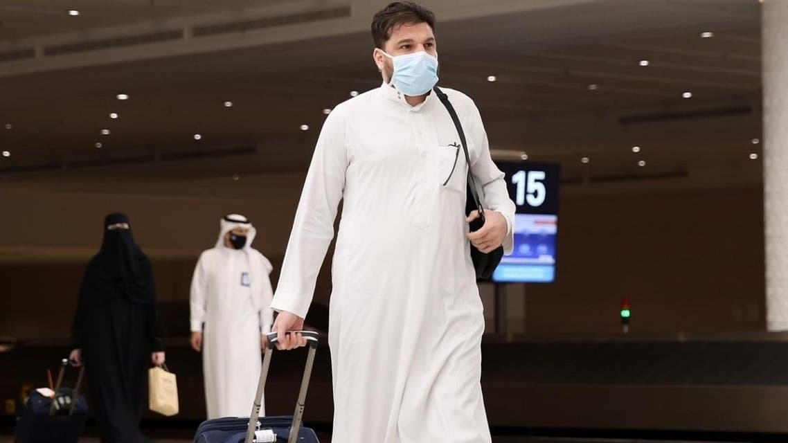 Hajj pilgrims arrive in Jeddah for this year's pilgrimage amid the coronavirus outbreak. (Twitter)