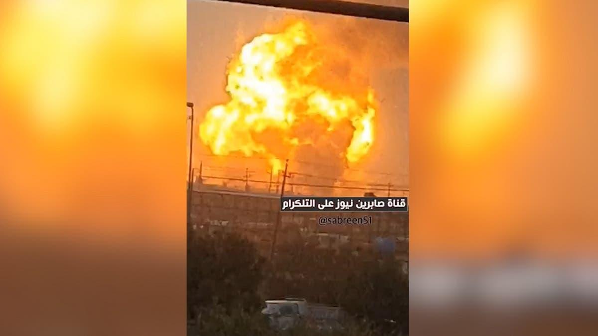 An image of the fire at al-Saqr military base in southern Baghdad, July 26, 2020. (Supplied)