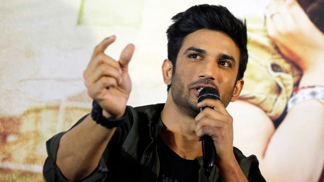 """In this May 30, 2017, file photo, late Bollywood actor Sushant Singh Rajput is seen speaking during a press conference to promote his upcoming movie """"Raabta"""" in Ahmadabad, India. (AP)"""