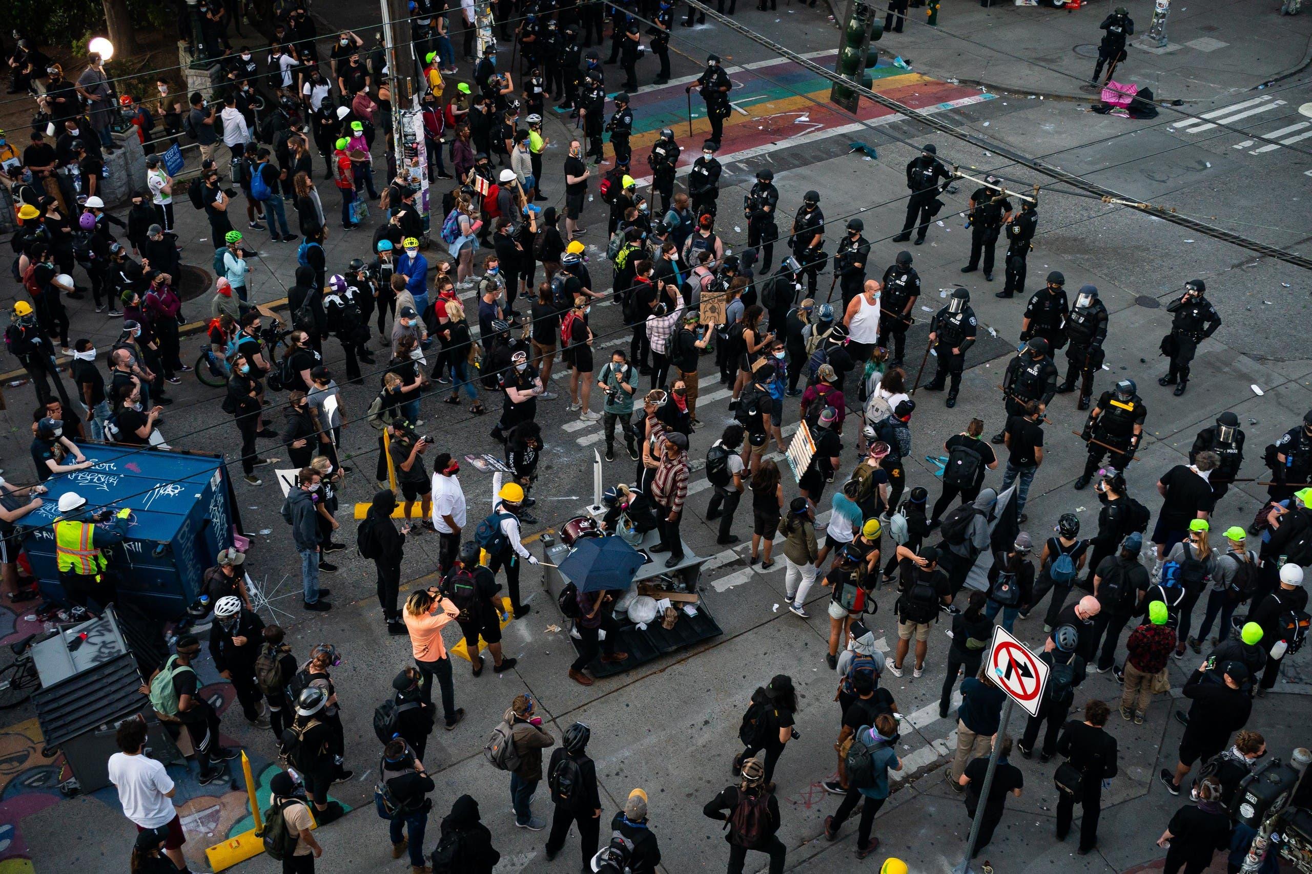 من احتجاجات سياتل