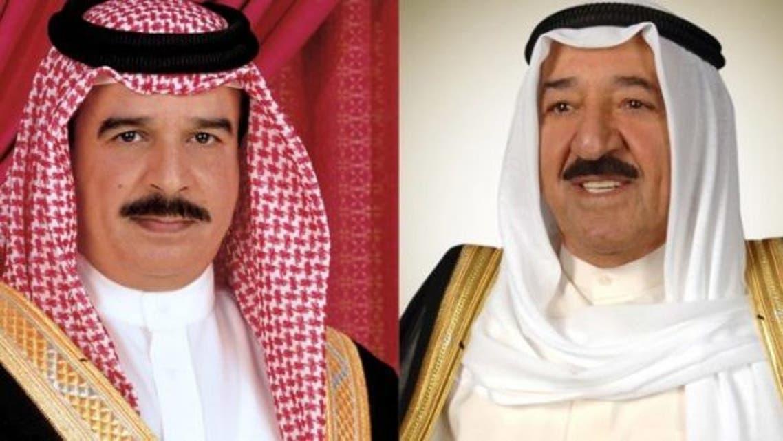 أمير الكويت وملك البحرين