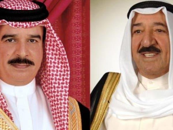 ملك البحرين يطمئن على صحة أمير الكويت