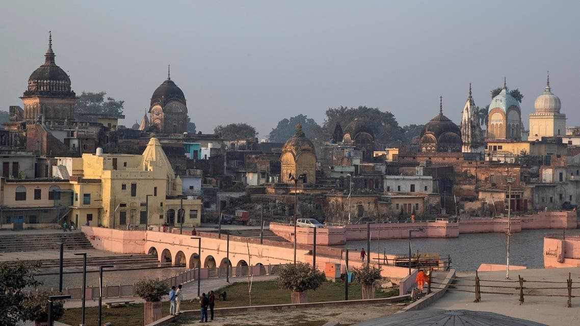 A general view of Ayodhya is seen after Supreme Court's verdict on a disputed religious site, India, on November 10, 2019. (Reuters)