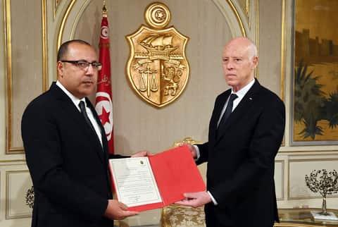 قيس سعيّد و هشام المشيشي
