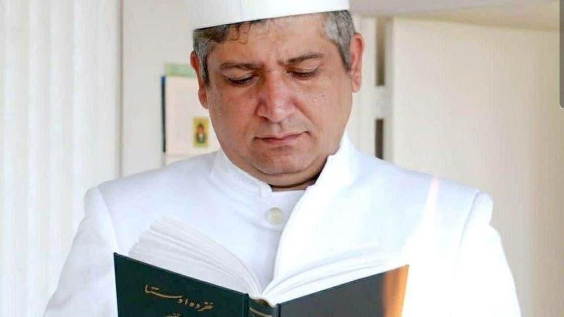 California-based Zoroastrian cleric Arash Kasravi. (Twitter)
