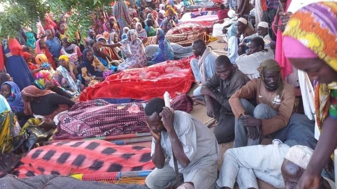 دفن ضحايا دارفور