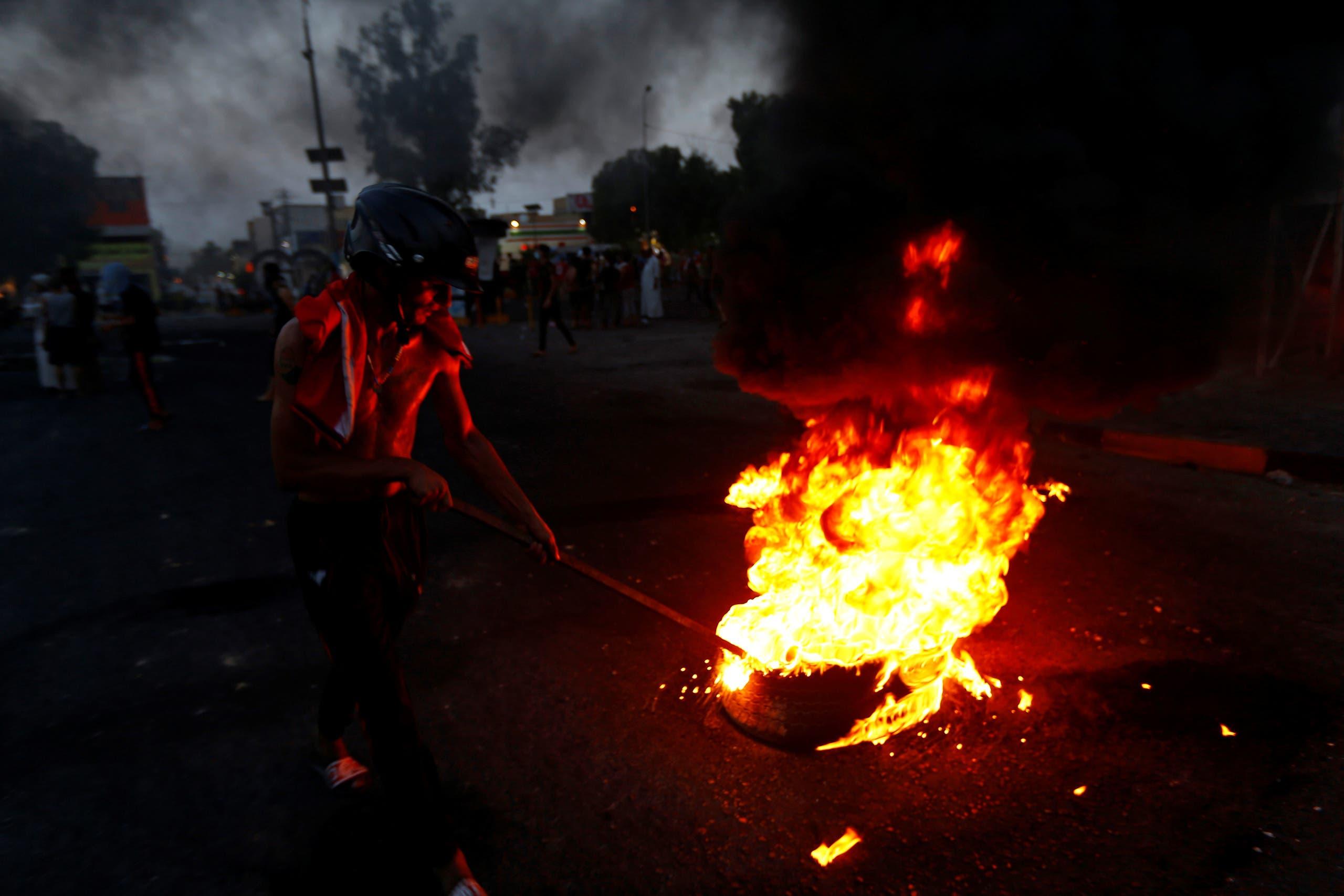 من الاحتجاجات الأحد في النجف
