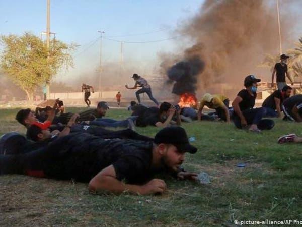 متظاهر عراقي يوثق لحظة مقتله برصاصة في الرأس بكاميرا هاتفه