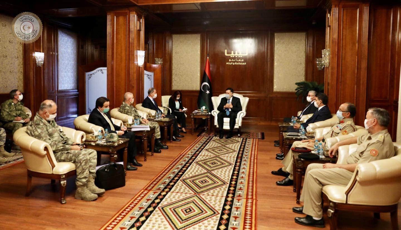 من زيارة وزير الدفاع التركي خلوصي أكار لليبيا مطلع هذا الشهر