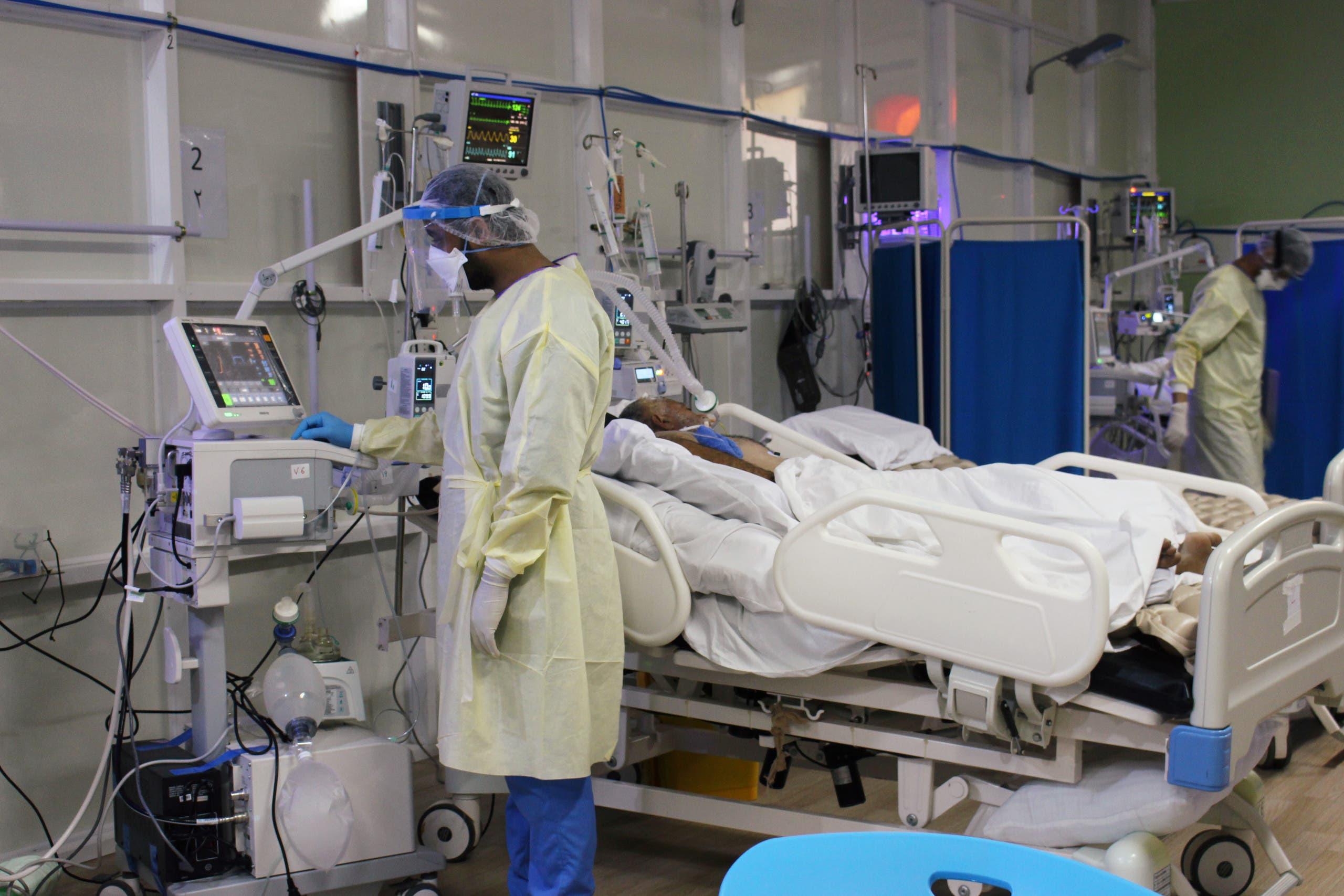 مستشفى يعالج فيه المصابين بكورونا في عدن