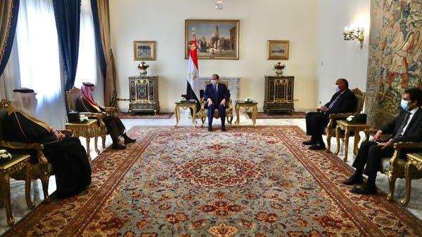 السيسي يستقبل وزير الخارجية السعودي