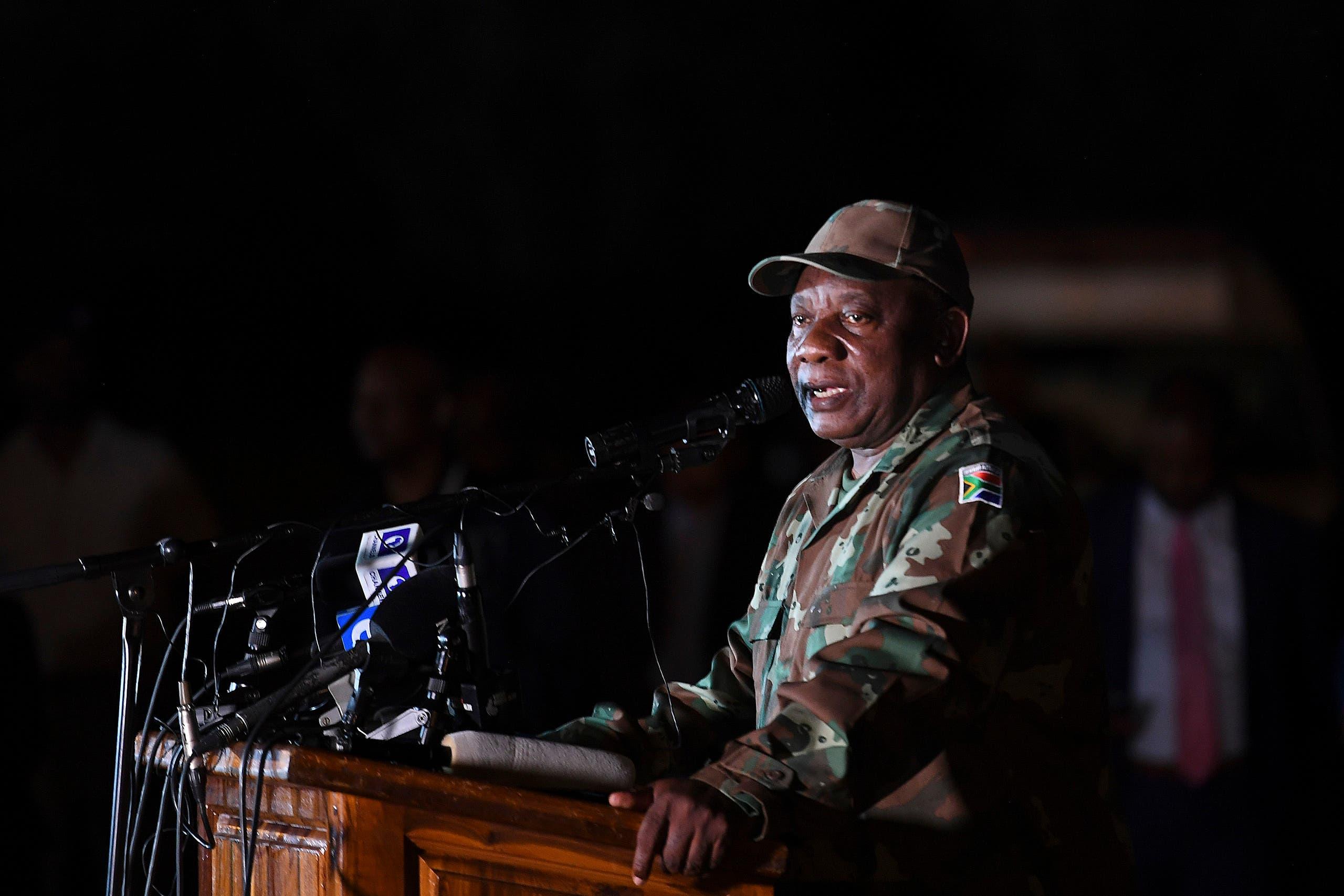رئيس جمهورية جنوب افريقيا سيريل رامافوزا 