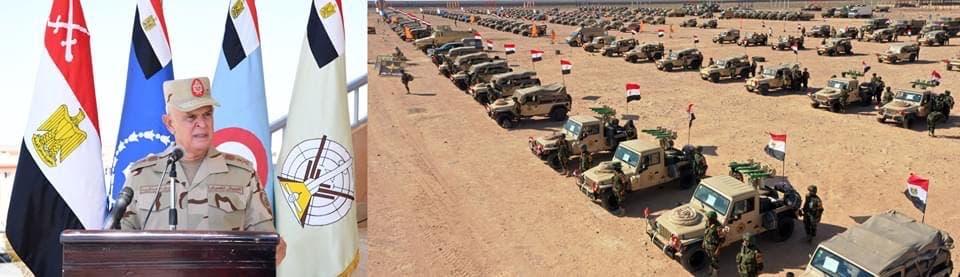 رئيس الأركان المصري يتفقد جاهزية قواته قرب حدود ليبيا