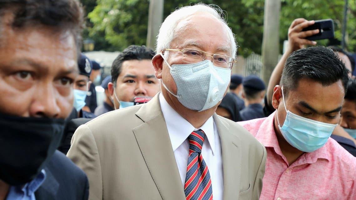 Former Malaysian Prime Minister Najib Razak arrives at Kuala Lumpur High Court in Kuala Lumpur, Malaysia July 28, 2020. (Reuters)