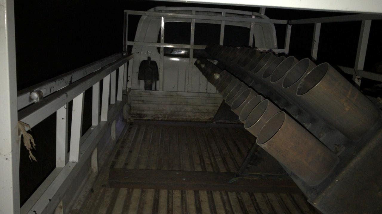 شاحنة محملة بصواريخ الكاتيوشا استهدفت معسكر التاجي في مارس الماضي