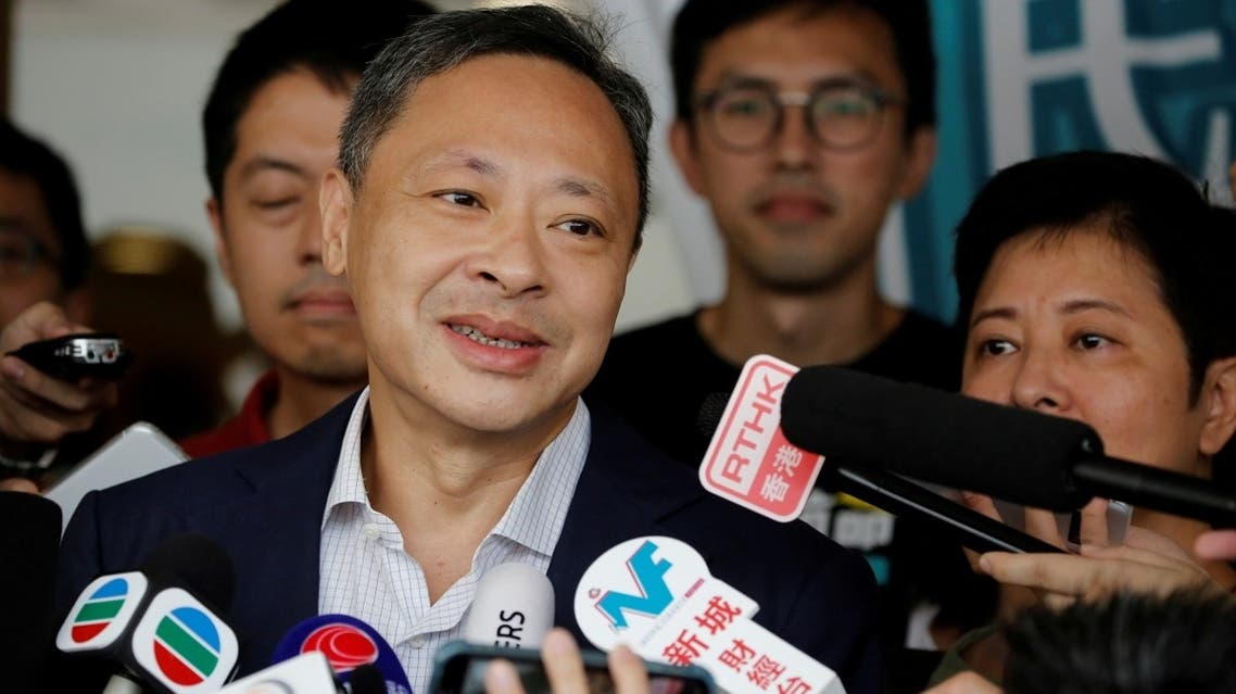 One of the former leaders of the 2014 Occupy Central pro-democracy movement, also known as the Umbrella Movement, Benny Tai speaks to the media as he leaves the high court after being released on bail in Hong Kong, China, on August 15, 2019. (Reuters)
