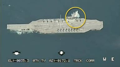 إيران وحاملة الطائرات الوهمية.. صاروخ خلال المناورات
