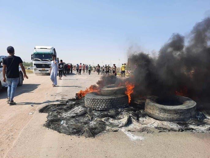 محتجون يقطعون طرقاً في العراق.. بسبب الكهرباء