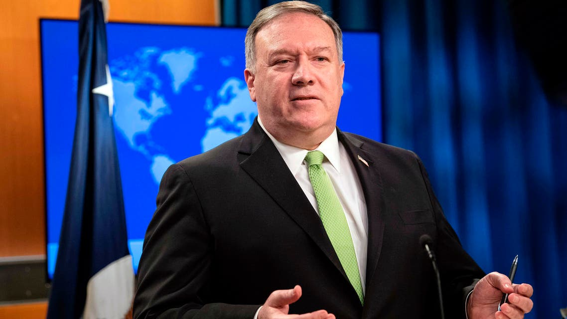 US Secretary of State Mike Pompeo speaks during a press briefing at the State Department on Wednesday, May 20, 2020, in Washington. (File photo: AP)