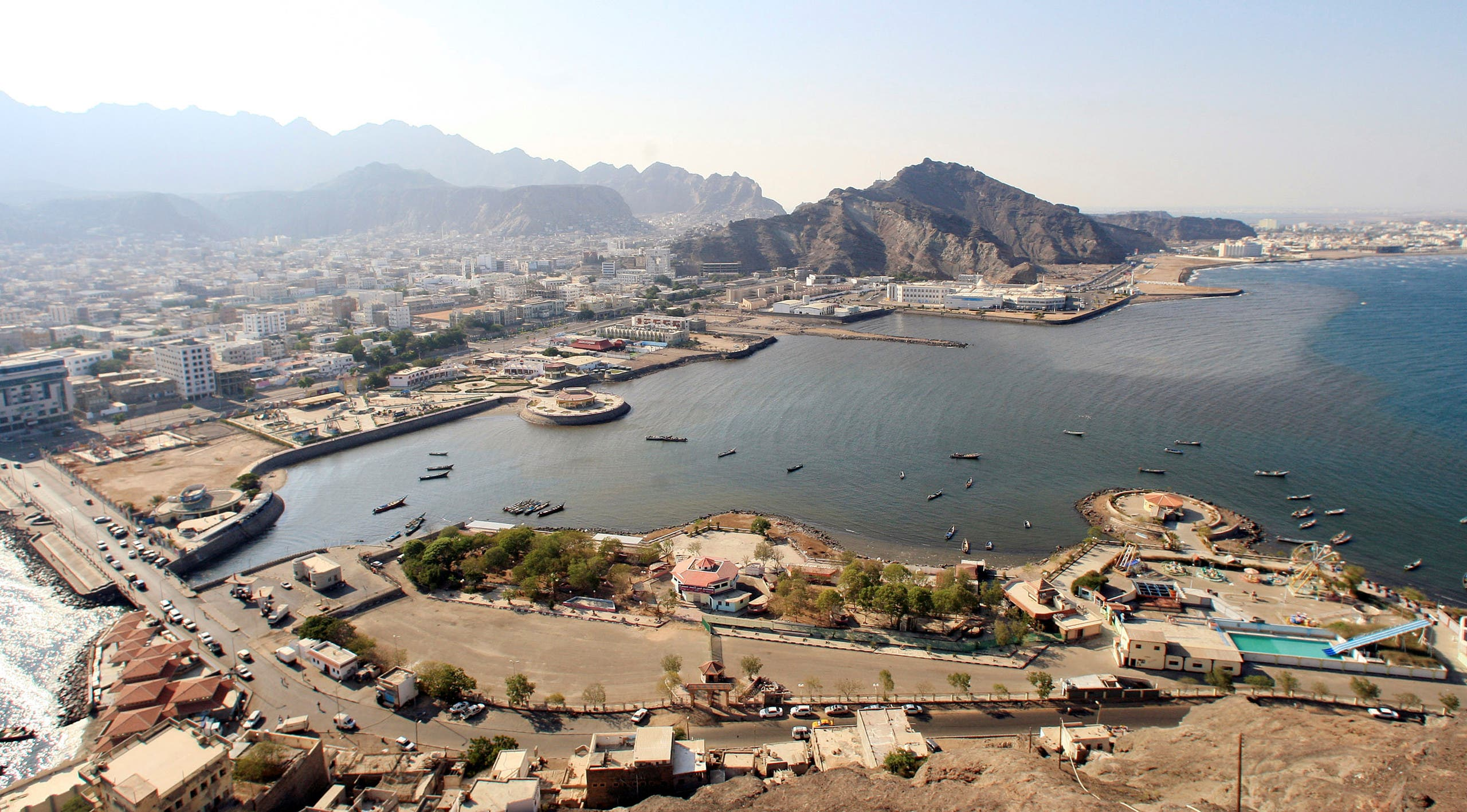 An aerial view shows Aden's City in southern Yemen, November 30, 2010. (Reuters)