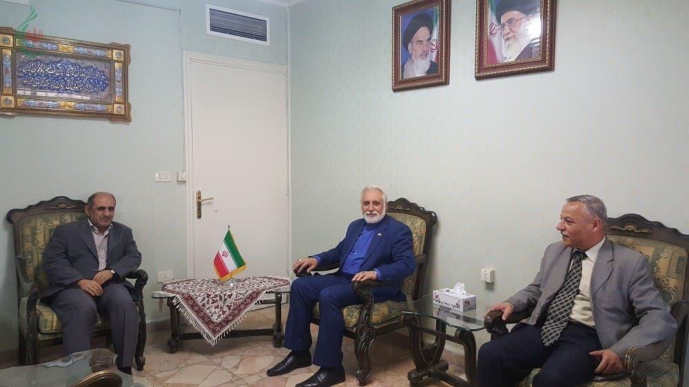 الحاج زهير بغدادي والمستشار في السفارة الإيرانية في دمشق أبو الفضل صالحي نيا