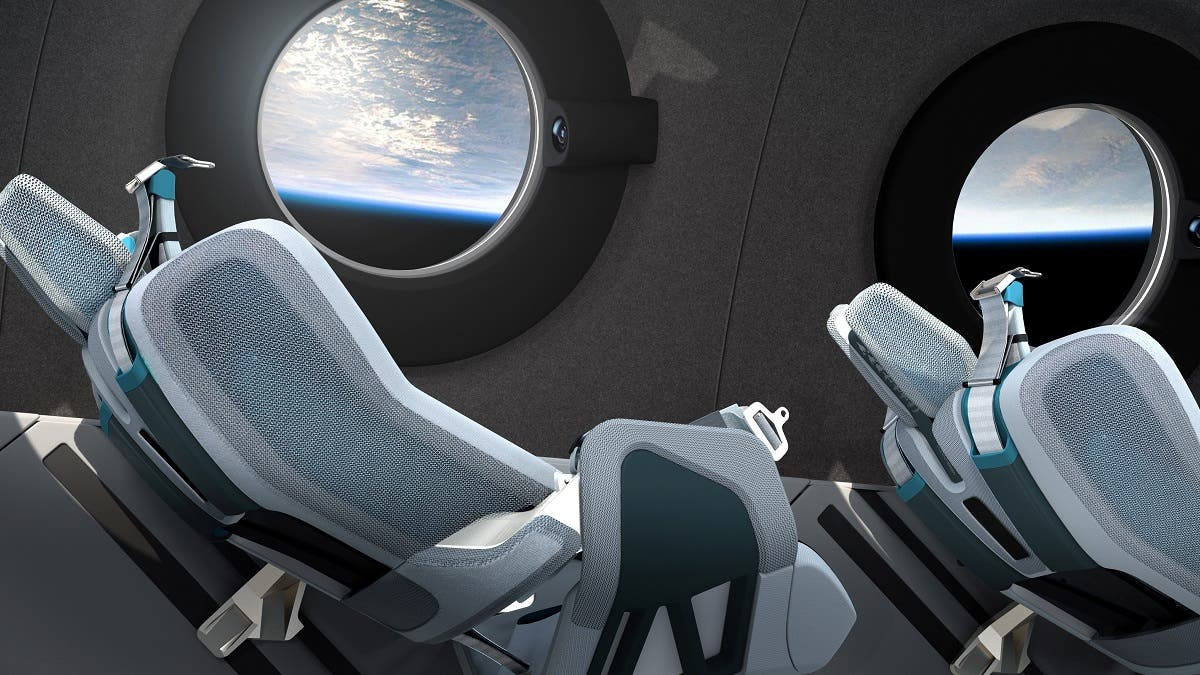 Another view of the interior cabin of billionaire Branson's Virgin Galactic's SpaceShipTwo seen in an artist's rendition. (Reuters)