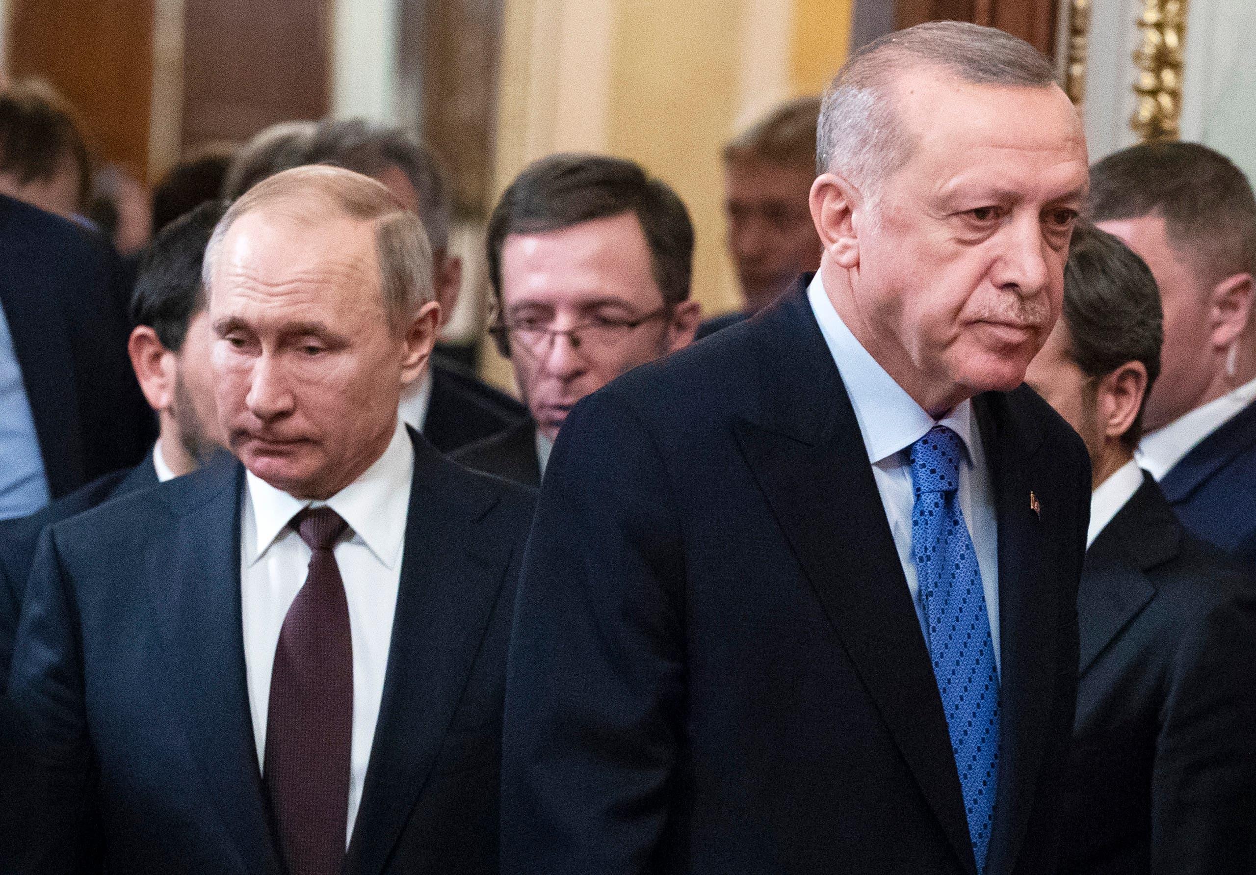 الرئيسان التركي والروسي (أرشيفية- فرانس برس)